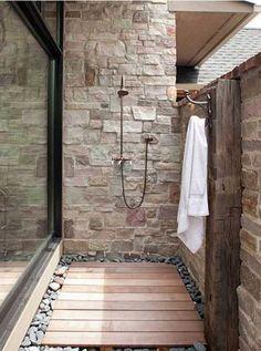 Дерево в интерьере ванной комнаты - 15 замечательных примеров преображения