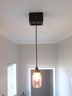 mason jar ceiling lighting | Single Pendant Mason Jar Ceiling Light on Etsy, $68.00