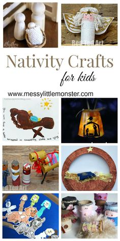 Nativity Christmas crafts for kids. A collection of nativity handprint crafts, nativity ornaments, toilet roll nativity figures and nativity scenes. Teach the true meaning of Christmas to Preschoolers, toddlers and older kids. Christmas Crafts For Kids To Make, Christmas Activities For Kids, Toddler Christmas, Craft Activities For Kids, Bible Activities, Christmas Printables, Craft Ideas, Christmas Bible, Christmas Program