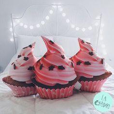 pink cupcake pillow https://www.facebook.com/brand.lacreme