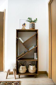 diy bookcase, bookshelf, nursery bookshelf, bookshelf in nursery, modern bookshelf
