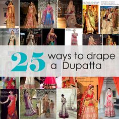 Nothing changes up your look faster than a dupatta drape (nothing non surgical anyway! ;) You could have worn your anarkali/ lehenga once and had your photos all over Facebook but change up the drape the next time and it...