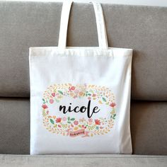 Db Ag, Reusable Tote Bags, Etsy Shop, Canvas, Unique Jewelry, Handmade Gifts, Check, Monogram, Tela