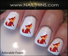 Hey, I found this really awesome Etsy listing at https://www.etsy.com/listing/160328729/fox-nail-decal-foxes-nail-designs-red