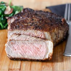 18oz Butter Basted Pan Seared Ribeye - 1 1/2 inch thick. A wonderfully ...