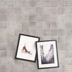 Betonsquare White-Grey Decor Mix 10x10 Concrete Look Tile, Tile Showroom, Bathroom Interior, Stoneware, Tiles, Shades, Concept, Flooring, Frame