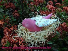 Amores de Pano: Família de passarinho no ninho!