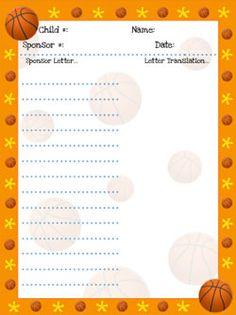 Printable Basketball Stationery - For Basketball Stars!