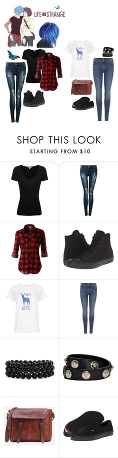 """""""Max x Chloe"""" by crybaby1117 ❤ liked on Polyvore featuring James Perse, Pilot, LE3NO, Converse, Paul by Paul Smith, 7 For All Mankind, Bling Jewelry, Versace and Vans"""