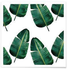 Wild Banana Leaf Natural als Premium Poster von clintonfriedman   JUNIQE