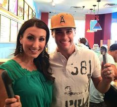 """Chelsea Phillips Reid and Josh Strickland Chelsea at Ben & Jerry's 36th Annual """"Free Cone Day"""" Raising $2,000 For Charity"""