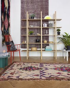 Our Azilal, Boucherouite and Kilim vintage rugs on display in the HAY and Wrong for HAY Showroom, London.