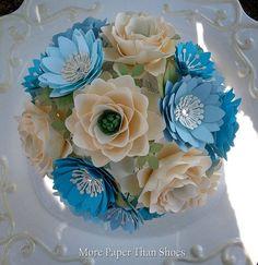 Handmade Paper Flowers Corsage Weddings by morepaperthanshoes