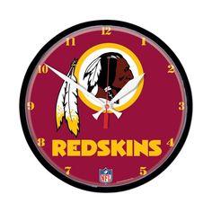 Washington Redskins NFL Round Wall Clock
