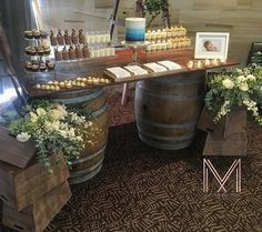 Rustic Simple Set Up for Johnathons Christening Over the weekend. Styled & Props by @maryannemuscatevents  Dessert By @divinedessertssydney  Cake By #christinestivala  #rusticdecor #rusticchristening #winebarrels #mme #maryannemuscatevents #eventstyling #eventplanner #stylist #sydneyprophire #prophiresydney #flowers #cake #ombrecake #dessertcups #evedeso #eventdesignsource - posted by Maryanne Muscat Events https://www.instagram.com/maryannemuscatevents. See more Event Designs at…