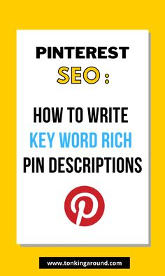 How to write pin Descriptions that are rich in long tail keywords. Boost your Pinterest SEO with the tips to write pin descriptions. Write detailed pin descriptions to get more blog traffic through Pinterest with the help of these actionable strategies. How to skyrocket your blog traffic with Pinterest SEO. Learn Pinterest SEO to be found on pinterest. Keyword Planner, Blog Topics, Marketing Digital, Media Marketing, Pinterest For Business, Seo Tips, Blogging For Beginners, Pinterest Marketing, How To Start A Blog