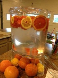 Watermelon and Orange infused water