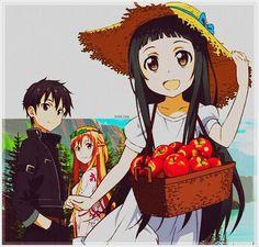Sword Art Online Asuna, Kirito,&Yui-chan