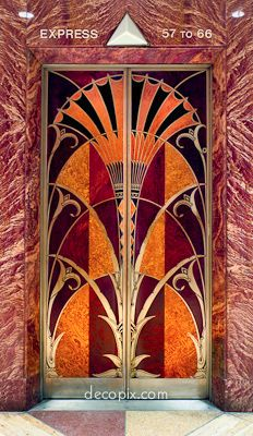 art deco woodwork