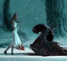 winged demon / wounded beast / fantasy / monster / digital art