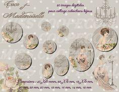 80 images pour collage digital cabochons bijoux : Cabochon par miss-coopecoll