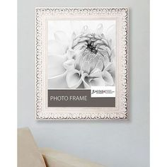 American Made Rayne French Victorian White Frame (Antiqued White, picture size is 12 x 12) (Wood)