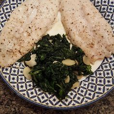 For those who complain they can't get into shape and don't know what to eat....here's what to eat at night...fish and spinach #eatclean #lowcarb by sluggo819