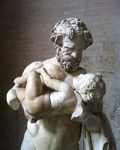 The satyr Silenus cradling the infant Dionysos, both crowned with ivy leaves. An absolute delight. Another version too of the beautiful statue in the Vatican (for which have a look at my previous post). This time in one of my favourite museums, the Glyptothek in Munich. As its name suggests it's a museum of the glyptic arts - sculpture. And only sculpture, which makes for a pretty impressive visit. Of course it does help that in 1832 Otto, the 16 year old son of Ludwig king of Bavaria, was…