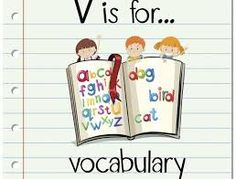 Illustration of a colourful children's book with the text 'V is for Vocabulary' Rhyming Games, Word Games, Phonics, More Words, New Words, Learn To Read English, Different Words, Effective Communication, Songs To Sing