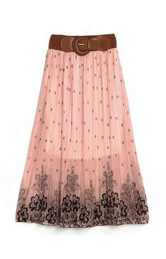 Boho Floral Design Long Skirt – Trendy Road; I like this color, but I can never figure out what to wear with it - other than black.