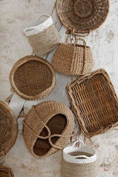 Decor   Baskets are my serious home decor obsession right now. I use them to store bags, linens, hair supplies—you name it!