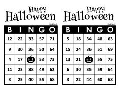 Halloween Bingo Cards, 1000 cards, 2 per page, immediate pdf download Halloween Bingo Cards, Christmas Bingo Game, Fun Christmas Party Games, Halloween Design, Halloween Fun, Custom Bingo Cards, Bingo Calls, Bingo Patterns, Bingo Night