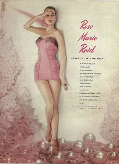 vintage 1950s swimsuit ad