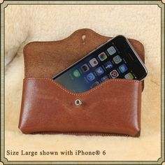 Leather iPhone Case Holster No. 48 Brown by @collittleton // THE BEST leather goods anywhere.