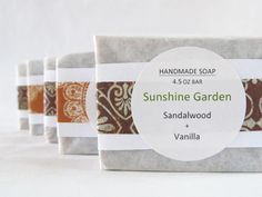 sunshine garden lotion | Sunshine Garden wraps her soaps in what appears to be waxed paper or ...
