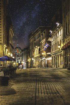 Cobblestone Street, Montreal, Canada photo via jessie