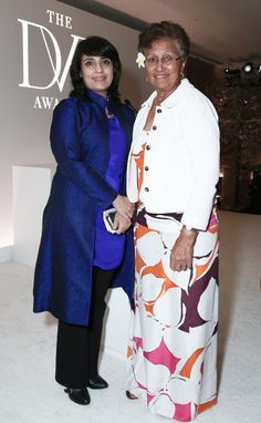 International Award winners Samar Minallah Khan and Adimaimalaga Tafuna'i at the 2015 #DVFAwards http://on.dvf.com/1JpbDZW
