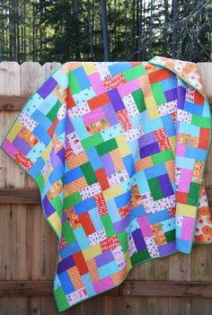 Isn't that the best texture? The wavy lines is my new favorite quilting design…for now. Fat Quarter Friday is another new pattern I put into my shop last week. I made these quilts ages ago…but it seem