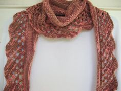lacy orange scarf lightweight fun fall shawl by DutchDaisyDesign, $39.00 #scarves #lace #fall #wool #nettles