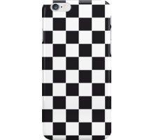 Racing Chess Squares Pattern - black iPhone-Hülle/Skin