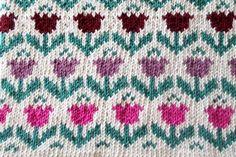 GREITZAN: Sticka en grytlapp med tulpanmönster Fair Isle Knitting, Knitting Patterns, Mosaic, Monogram, Blanket, Crochet, Inspiration, Afghans, Charts