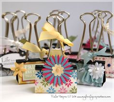Binder clips as photo holders