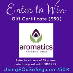 Celebrating 50,000 FB Group Members – a #giveaway #aromatics #giftcertificate