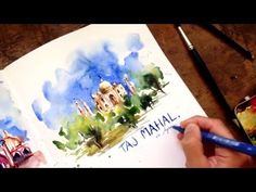 I'm always talking about using negative space when painting. (Say for instance, this example). I often call it The Three Big Shapes: Sky, Ground, Subject. In this short video, watercolor sket…