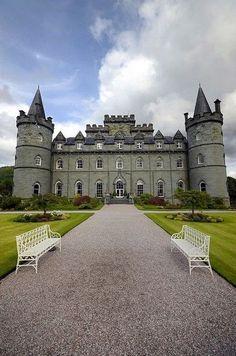 At the Inveraray Castle in Scotland.