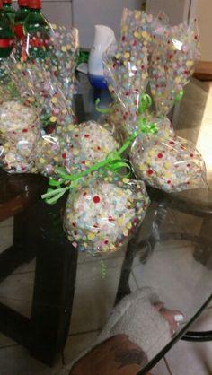 Individually wrapped carnival 《rice Krispy》 balls