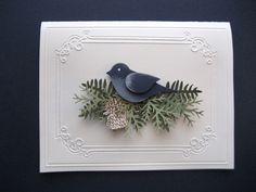 Simple bird branches card