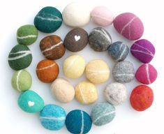 Felt Pebbles Tutorial Felted Pebbles – Set of 12