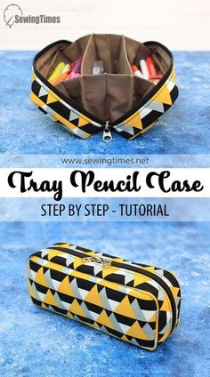 Diy Sewing Projects, Sewing Tutorials, Pouch Bag, Pouches, Diy Bags Patterns, Diy Bags Purses, Pencil Bags, Fabric Bags, Sewing Accessories