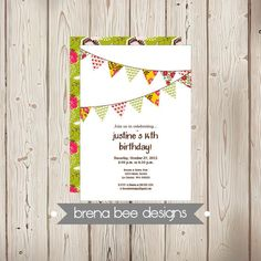Personalized  Justine Style  Green Brown Red by brenabeedesigns, $12.75